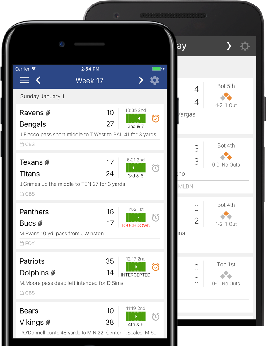 Sports Scores Apps: Lightning fast scores, real-time plays, live stats for iPhone & Android