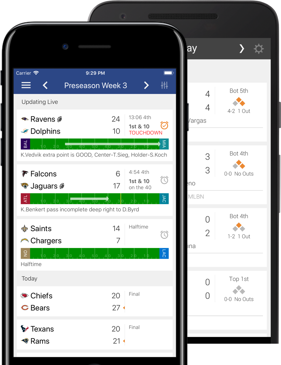 Scores App: Lightning fast scores, real-time plays, live stats for iPhone & Android